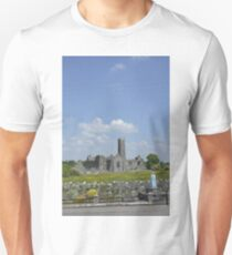 Quin Abbey County Clare Ireland Landmark Scenic Landscape T-Shirt