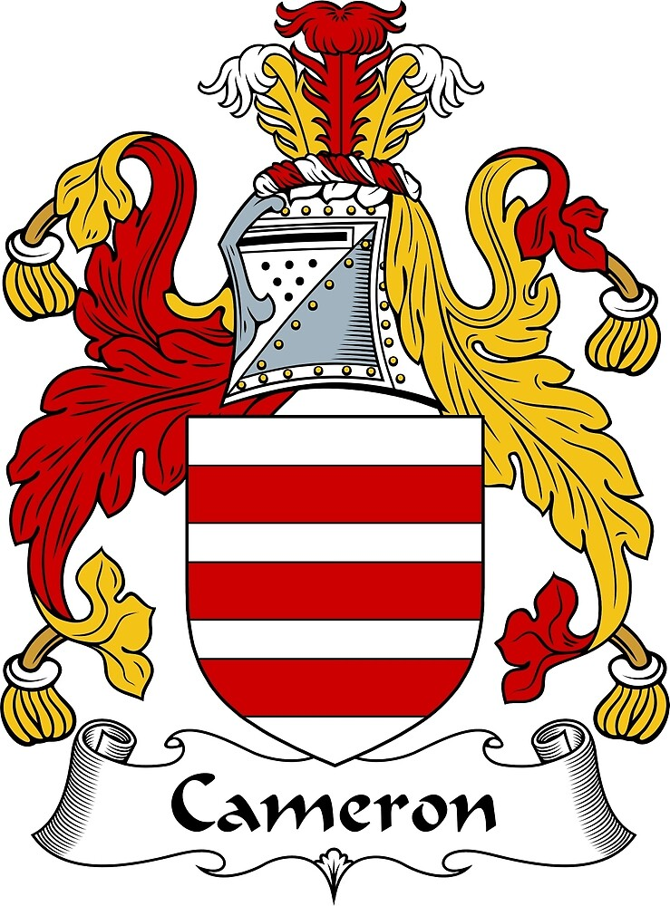 Quot Cameron Coat Of Arms Cameron Family Crest Quot By