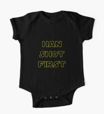 Han Schuss zuerst Baby Body Kurzarm