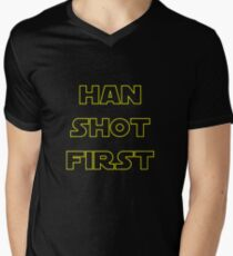 Han Shot First Men's V-Neck T-Shirt