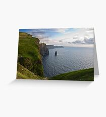 Cliffs Of Moher, Sunset, County Clare, Ireland Greeting Card