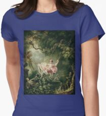 Jean-Honore Fragonard - The Swing. Lovers portrait: sensual woman, woman and man, kiss, kissing lovers, love relations, lovely couple, family, valentine's day, sexy, romance, female and male T-Shirt