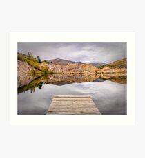 Blue Lake, NZ Art Print