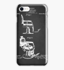 BARBER'S CHAIR PATENT 1910 iPhone Case/Skin
