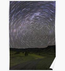 Star Trails, South of Beaudesert, Qld Poster