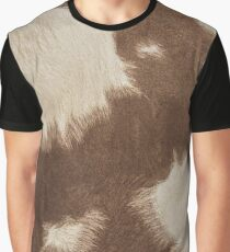 Brown Cowhide Graphic T-Shirt