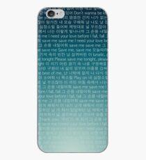 Vinilo o funda para iPhone BTS Save Me Lyrics Funda para teléfono