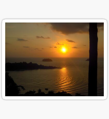 Sunset in Koh Chang Sticker