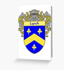 Lynch Coat of Arms/Family Crest Greeting Card