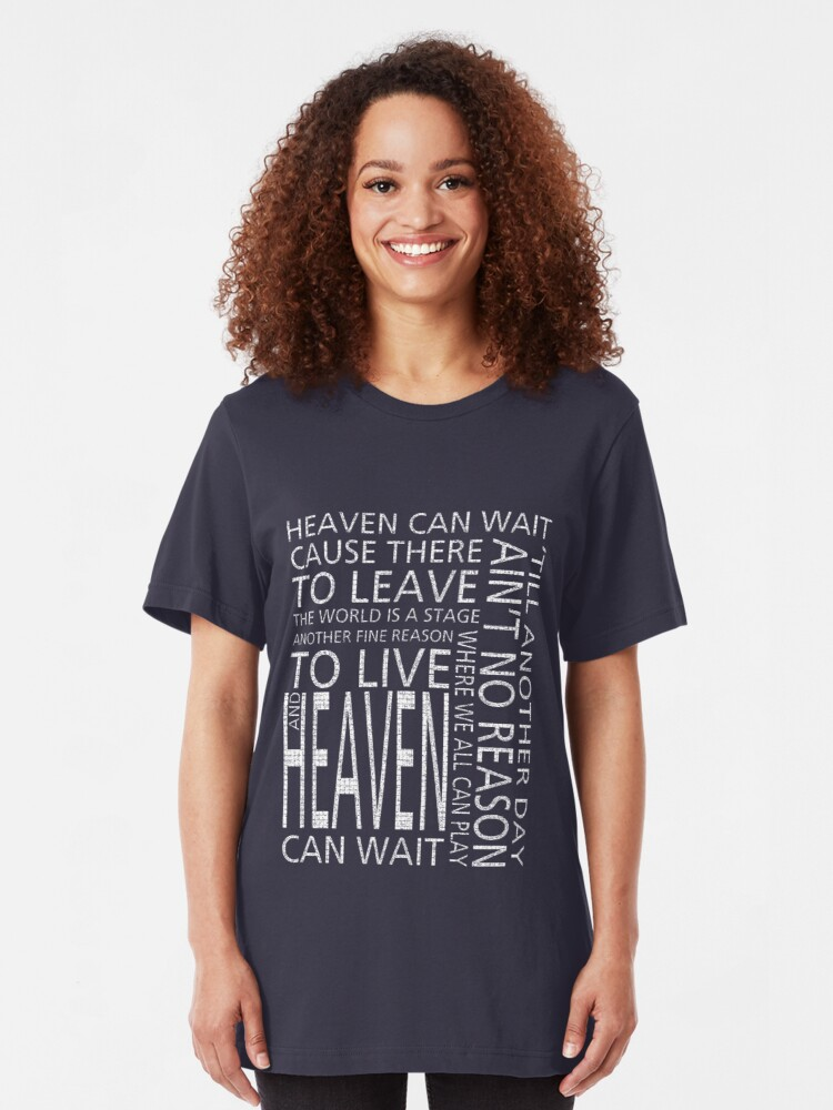 Alternate view of Heaven can wait Slim Fit T-Shirt
