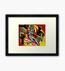 Space zombie graphic novel design Framed Print