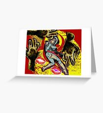 Space zombie graphic novel design Greeting Card