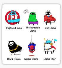 The LlamAvengers Sticker
