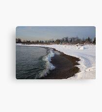Winter Beach - Lake Ontario, Toronto, Canada Canvas Print