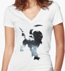 Absol used Feint Attack Women's Fitted V-Neck T-Shirt