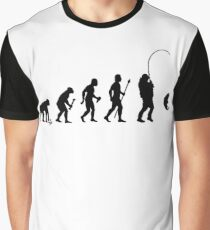 Evolution Of Man and Fishing Graphic T-Shirt