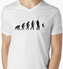 Evolution Of Man and Fishing Men's V-Neck T-Shirt
