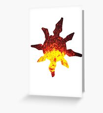 Solrock used Fire Spin Greeting Card