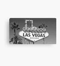 Welcome to Las Vegas black and white Canvas Print