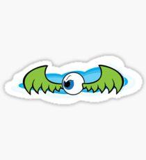 Angry Flying Eye - Green Sticker