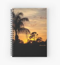 Fast Moving Clouds at Sunset Spiral Notebook