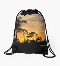Fast Moving Clouds at Sunset Drawstring Bag