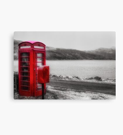 Old Red British Telephone Kiosk Canvas Print