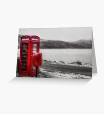 Old Red British Telephone Kiosk Greeting Card