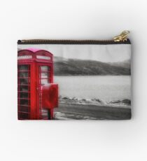 Old Red British Telephone Kiosk Studio Pouch
