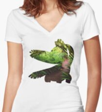 Tropius used Leaf Storm Women's Fitted V-Neck T-Shirt