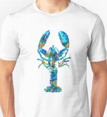 Blue Lobster Art by Sharon Cummings Unisex T-Shirt