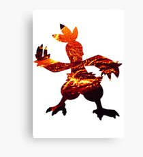 Combusken used Fire Spin Canvas Print