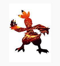 Combusken used Fire Spin Photographic Print
