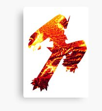 Blaziken used Blaze Kick Canvas Print