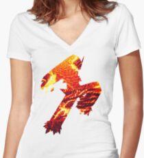 Blaziken used Blaze Kick Women's Fitted V-Neck T-Shirt