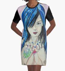 Model Graphic T-Shirt Dress