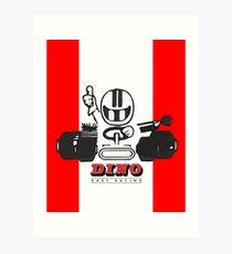 Vintage Kart Dino Art Print