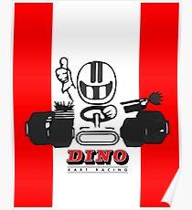 Vintage Kart Dino Poster