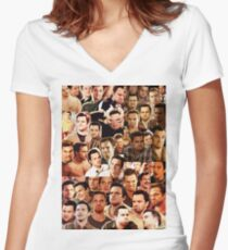 Nick Miller Paparazzi Women's Fitted V-Neck T-Shirt