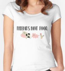 Friends Not Food - Animals Women's Fitted Scoop T-Shirt