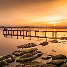 Jetty at Buff Point, sunset by damiankafe