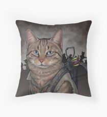 Daryl Dixon Cat Throw Pillow