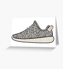 Yeezy Boost 350 Turtle Dove Greeting Card