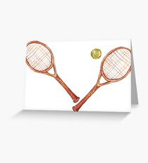 tennis racket with tennis ball Greeting Card