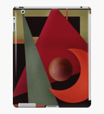 Beautiful modern geometrical ornamental red green black pattern texture iPad Case/Skin