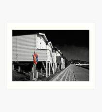 Beach huts in Essex Art Print