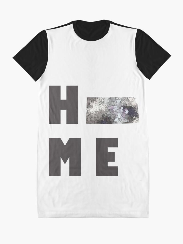 """Alternative Ansicht von Kansas """"HOME"""" T-Shirt Kleid"""