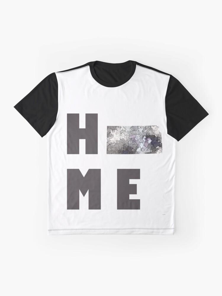 """Alternative Ansicht von Kansas """"HOME"""" Grafik T-Shirt"""
