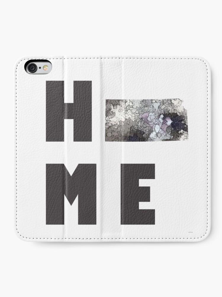 """Alternative Ansicht von Kansas """"HOME"""" iPhone Flip-Case"""