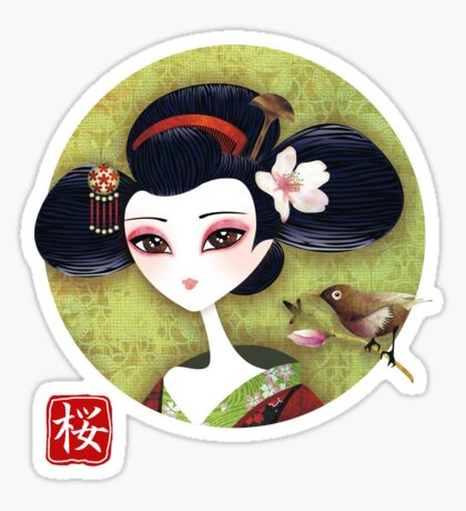 Sakura Girl Sticker